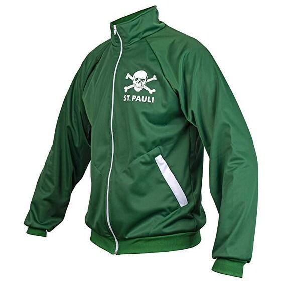 St. Pauli Ultras Skull Kult Crossbones Punk Activist Football Jacket (Green)
