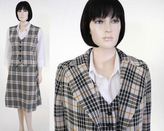 Vintage 3 Piece Plaid Suit - Clueless Inspired Sui