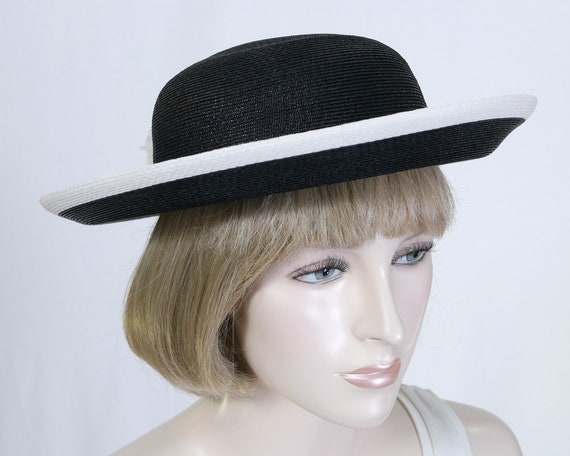 Vintage Evelyn Varon Exclusive Designer Hat Black Breton Hat  e16a7b12c4e