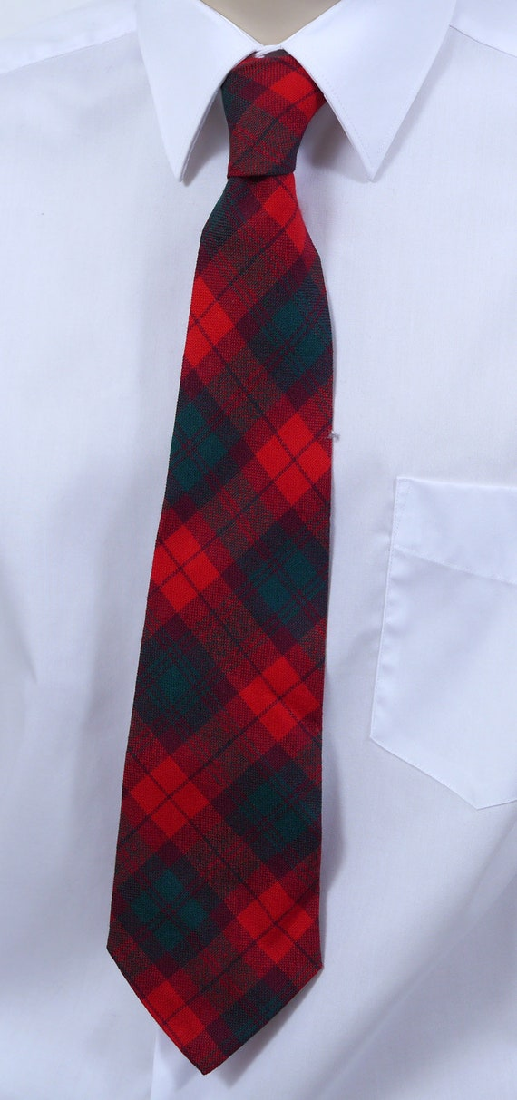 Vintage Men s Plaid Scottish Tam   Tie Hudson s Bay  24f626efdc77