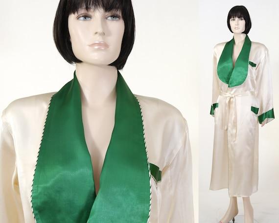 Vintage Satin Robe - Women's Satin Robe - Fashion