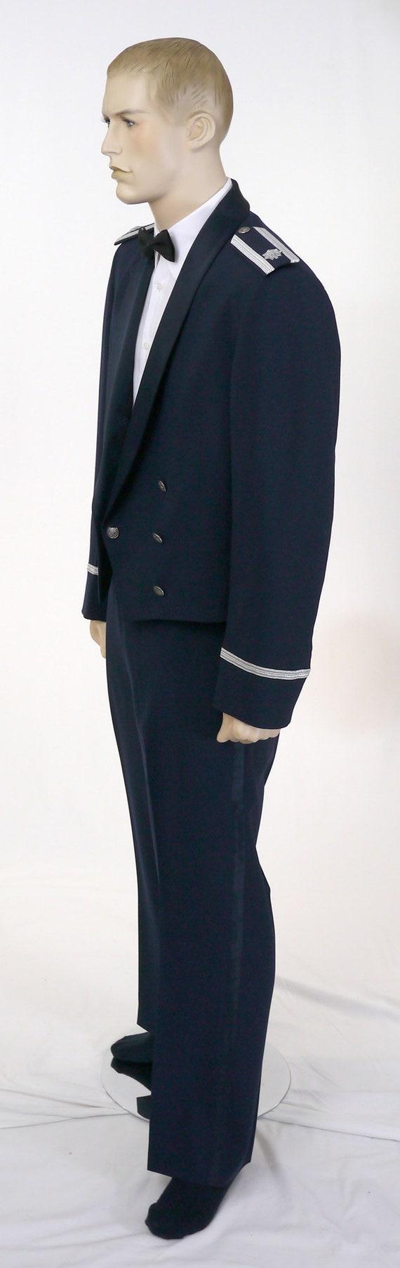 Vintage USAF Men's Mess Dress Uniform - Cropped J… - image 5