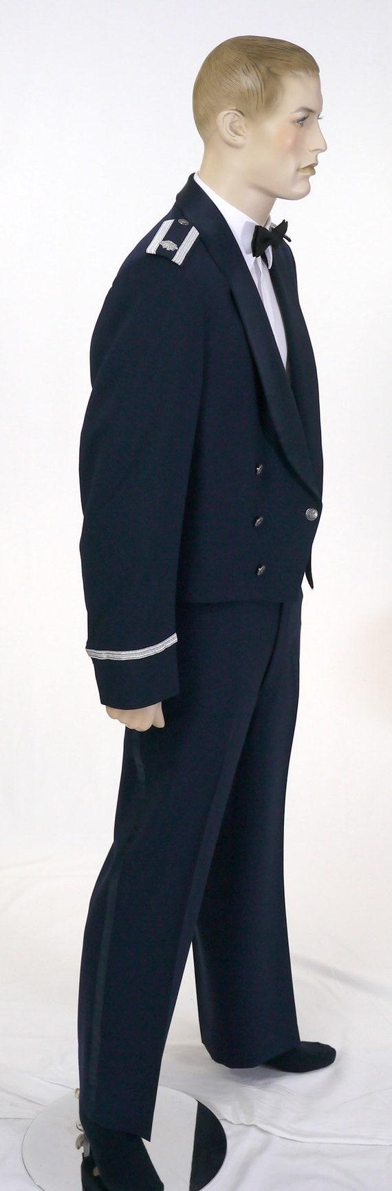 Vintage USAF Men's Mess Dress Uniform - Cropped J… - image 3
