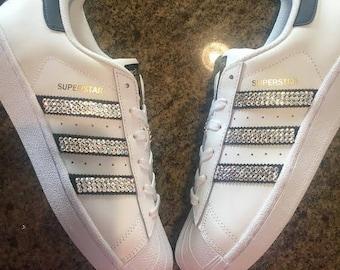 7b323cc4c90 Rhinestone Adidas Original Superstar Shoe