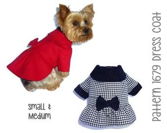 1b8bea18bfe933 Dress Dog Coat Pattern 1679   Dog Sewing Patterns   Pet Coats   Winter Dog  Jackets   Pet Jackets   Designer Dog Clothes   Sm   Med