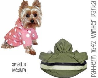 Winter Dog Coat Sewing Pattern 1642 - Dog Clothes PDF Sewing Patterns - Dog Coats - Dog Jackets - Pet Coat - Designer Dog Clothes - Sm & Med