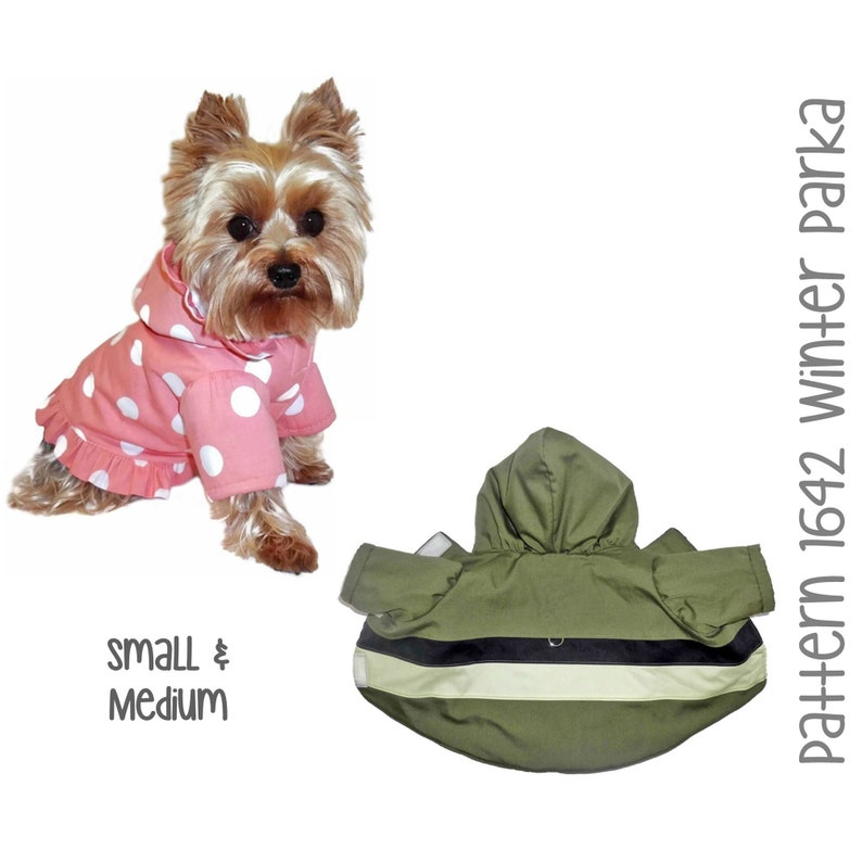 Winter Dog Coat Sewing Pattern 1642  Dog Clothes PDF Sewing image 0