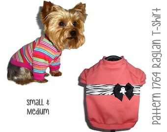 Dog Tee Shirt Pattern 1764 * Dog Clothes Patterns * Dog T Shirts * Dog Shirts * Dog T-Shirts * Dog Sweatshirts * Dog Sweaters * Sm & Med