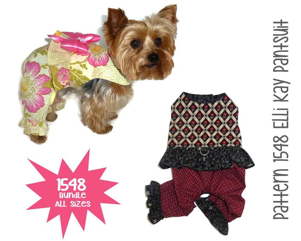 Elli Kay Dog Pants Suit Pattern 1548 Dog Clothes Patterns