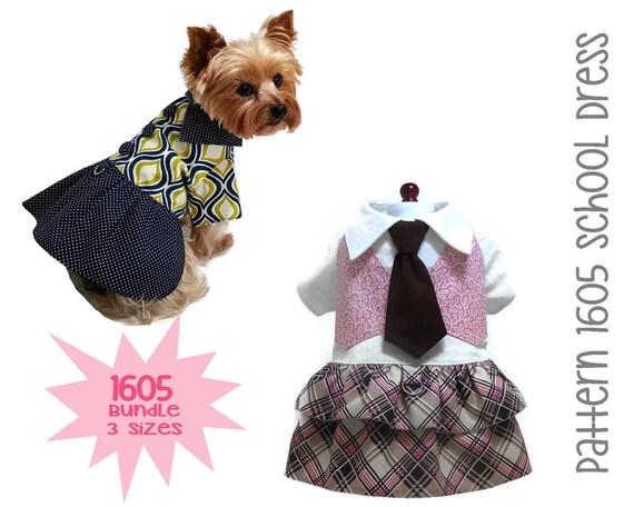 Back to Dog Dress Pattern 1605 Dog Clothes Patterns   Etsy