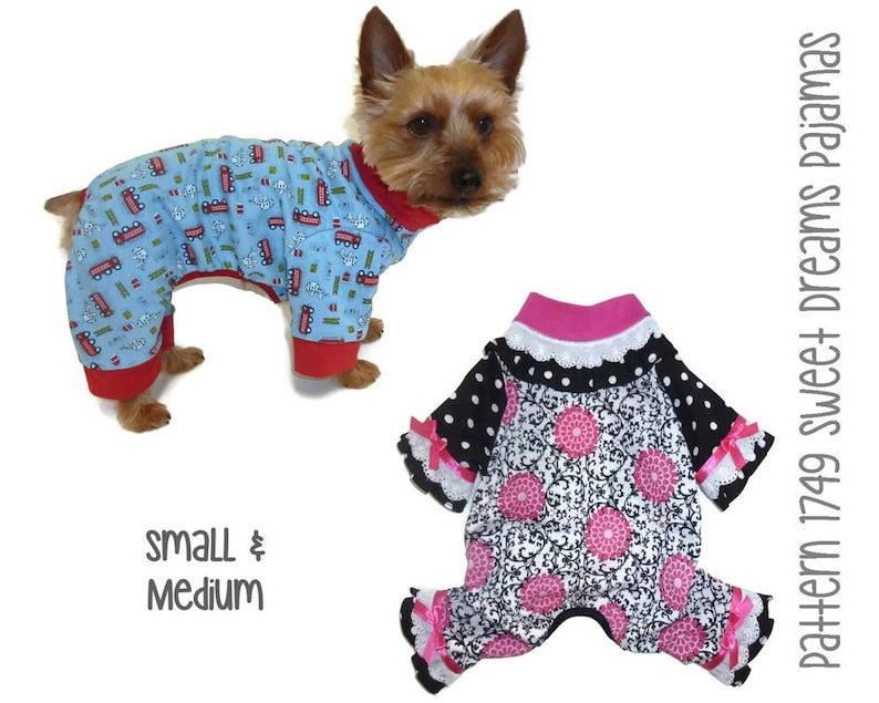 Sweet Dreams Dog Pajamas Sewing Pattern 1749  Dog Onesies  image 0