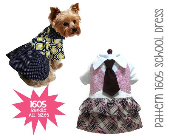 Back to Dog Dress Pattern 1605 Dog Clothes Patterns | Etsy