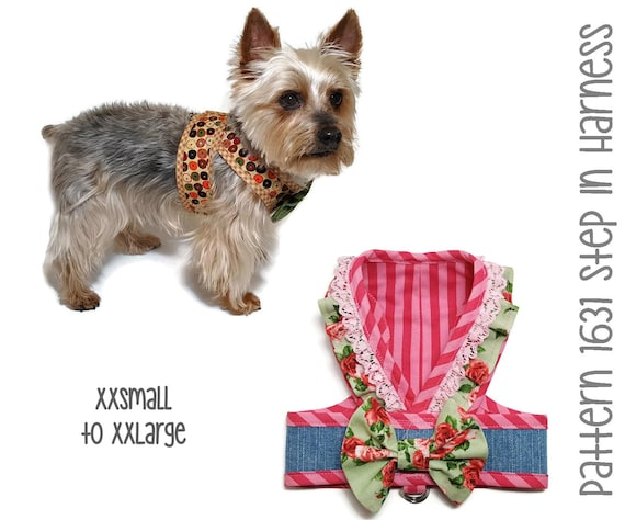 Step In Dog Harness Pattern 1631 Dog Harness Dog Clothes Etsy
