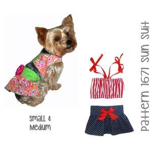 Custom Made Red Polka Dot  Doggie Bikini   Summertime Fun Beach Time Sunbathing   Handmade Dog Fashion Clothing