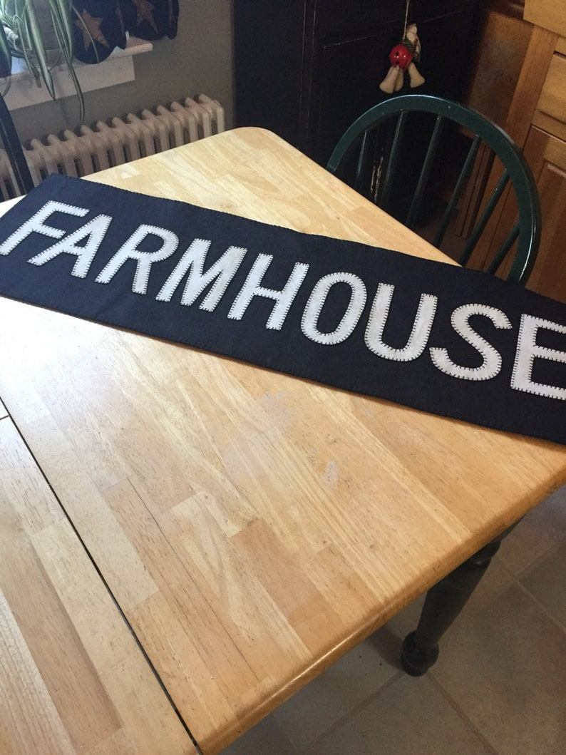 Groovy Farmhouse Table Runner Measuring 12X36 Inches Download Free Architecture Designs Intelgarnamadebymaigaardcom