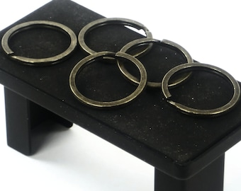 """10 pc.s of 1.25"""" Antique Brass Key Rings, Verified 33mm Split Rings, Purse Making Supplies Hardware @ MeiMei Supplies in USA"""