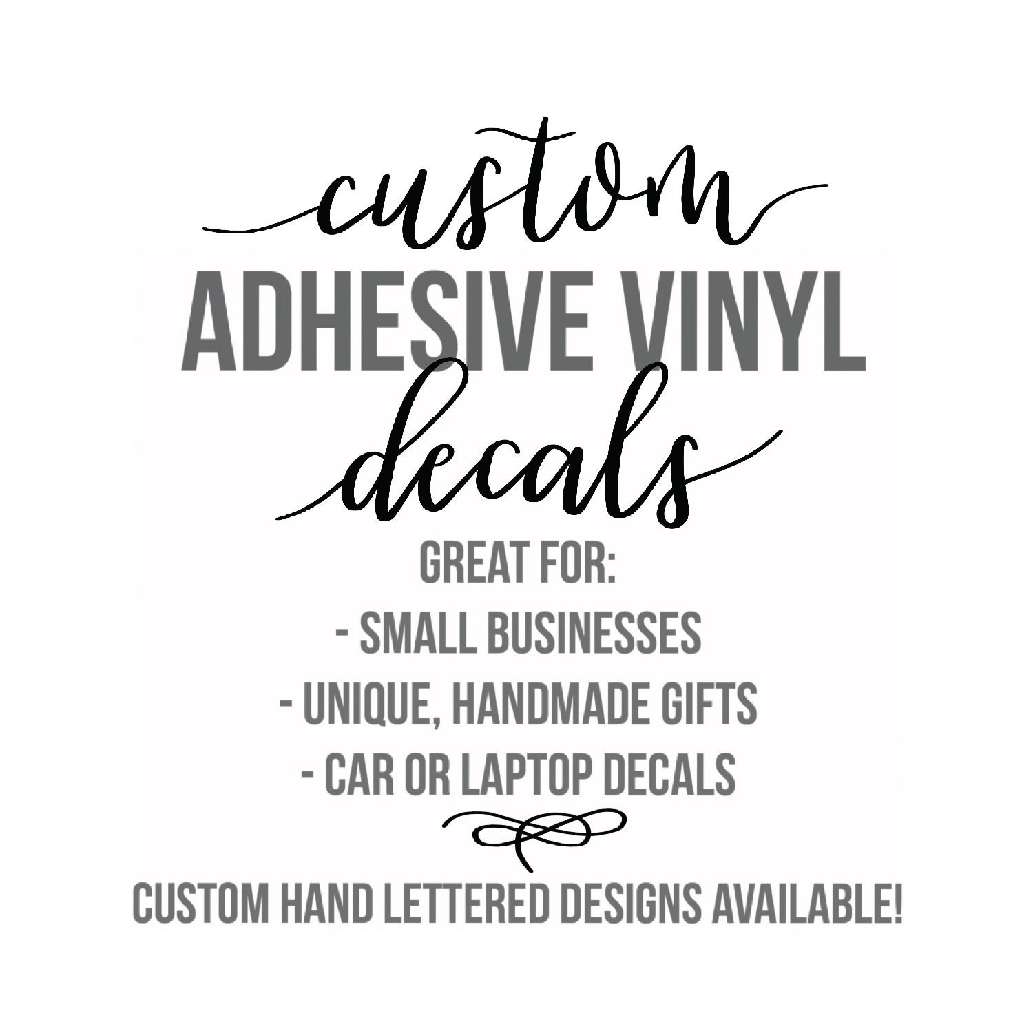 Custom vinyl stickers company logo sticker small business logo sticker adhesive vinyl decals car decal bulk order decals