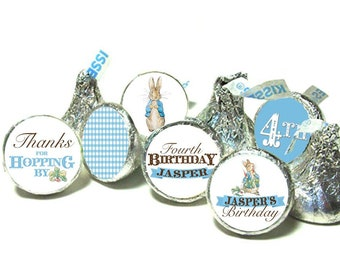 BIRTHDAY OR BABY SHOWER Candy Favor Stickers Peter Rabbit Candy Stickers Hersheys Candy Stickers Easter Decorations or Hersheys Miniature Candy Stickers
