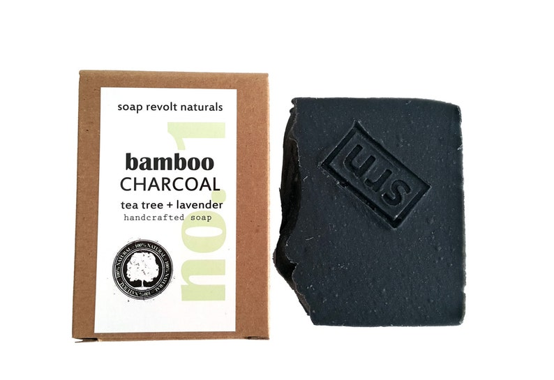 4 OZ Charcoal Natural Face Soap with Tea Tree and Lavender for image 0