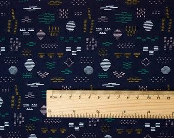 """Aztec - 'Faraway Places' collection by ELIZABETH OLWEN. Cloud 9 Fabrics. Organic cotton poplin. Per Half Metre (19.5"""")"""