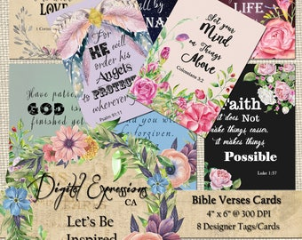Digital cards etsy bible verses digital cards scripture art 4x6 size cards digital collage sheet greeting cards handmade cards floral cards m4hsunfo