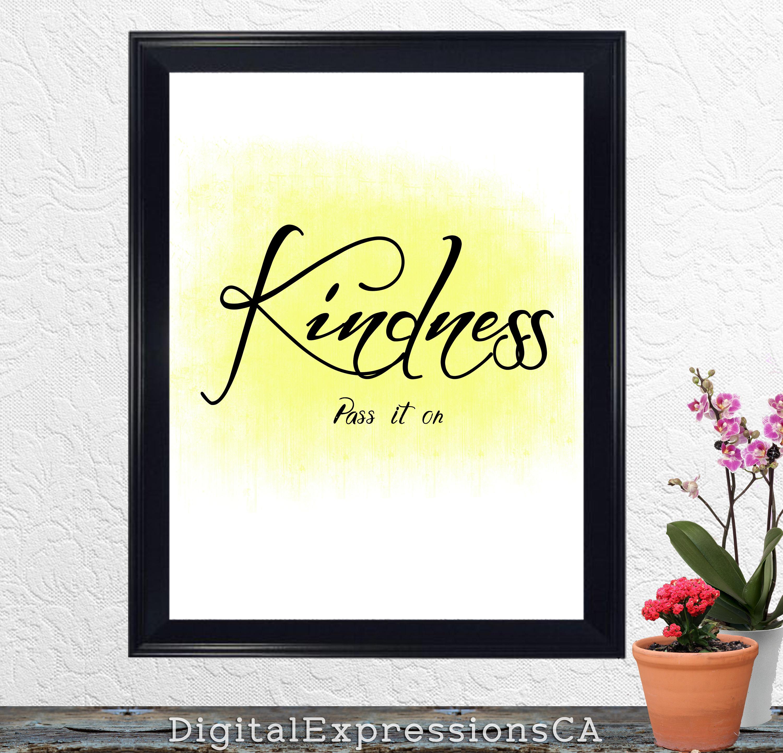 Kindness Pass it on Kindness Digital Print Kindness matters | Etsy