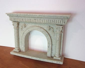 DOLLHOUSE FURNITURE FIREPLACE MANTLE NEW! GRANITE FAUX