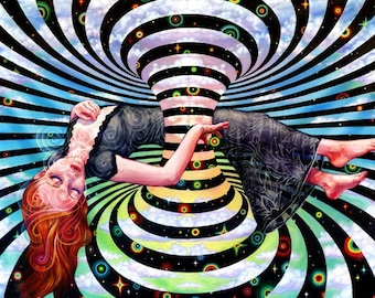 Smoke & Mirrors by Black Ink Art - Large Format Art Tapestry  - trippy tapestry