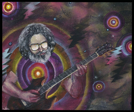 Jerry Garcia Art Print Grateful Dead Art Music Artwork | Etsy