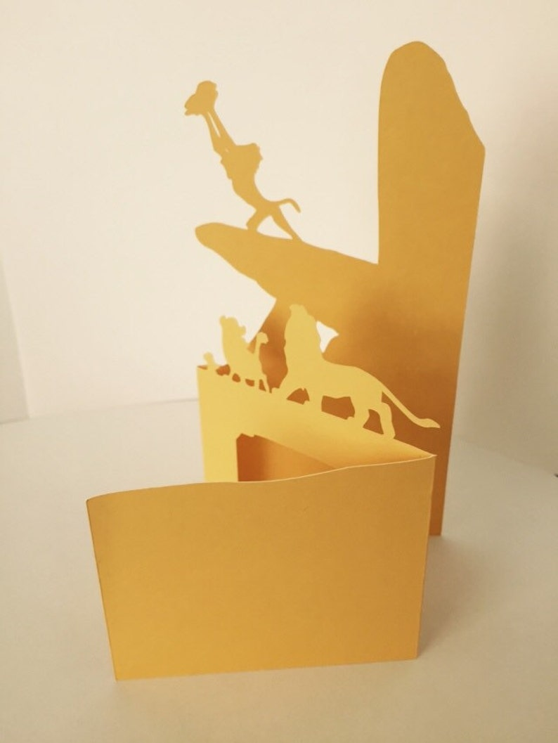 lion king inspired blank paper cut card  etsy