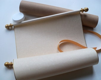 parchment scroll etsy