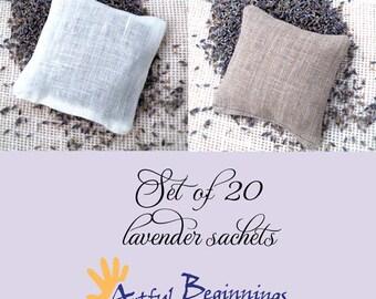 Lavender sachets, set of 20