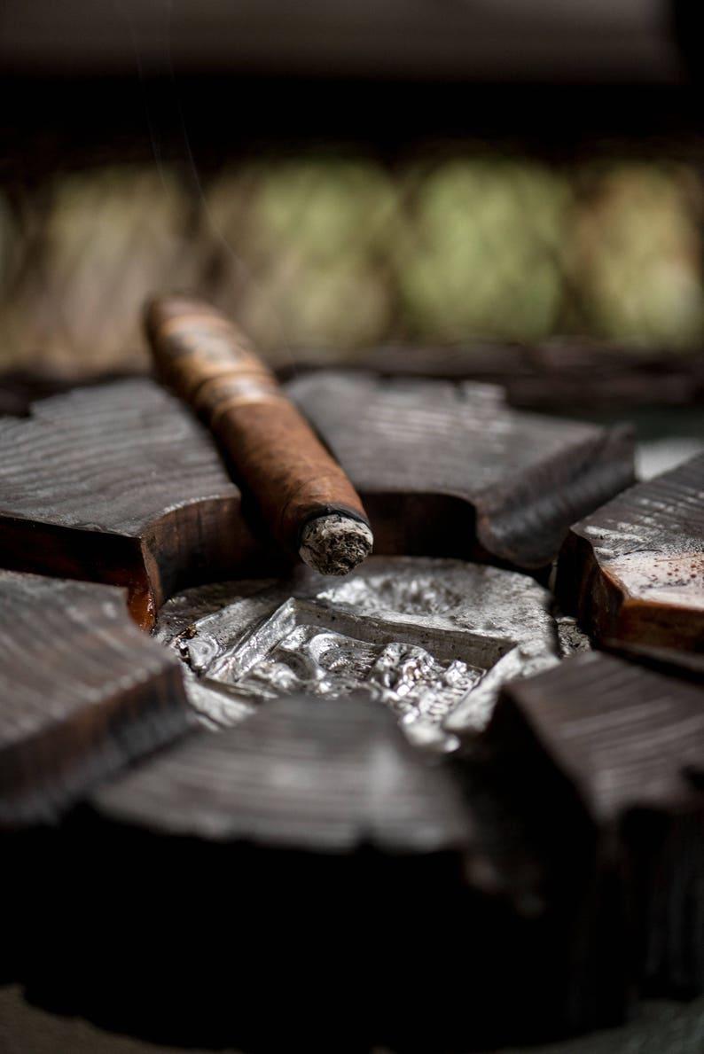 Ashtrays for cigars holder Wood ashtray Gift for dad Gift for image 0
