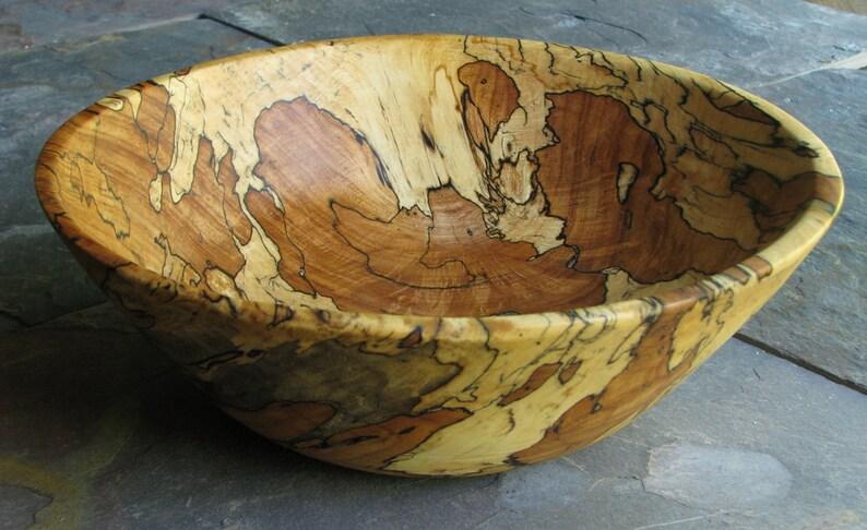 Reclaimed Wood Bowl Artisan Wood Bowl Decorative Wood Bowl image 0