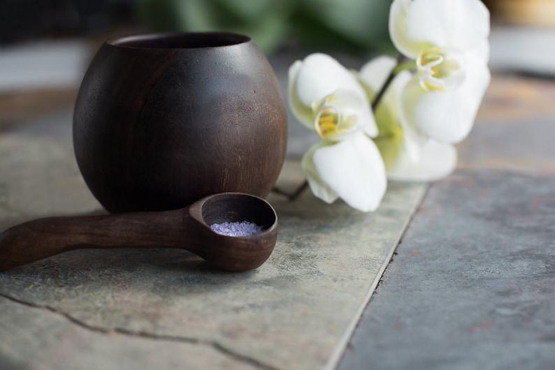 Wooden bowl Salt cellar Salt keeper Wood bowl Bath salts Pinch image 0