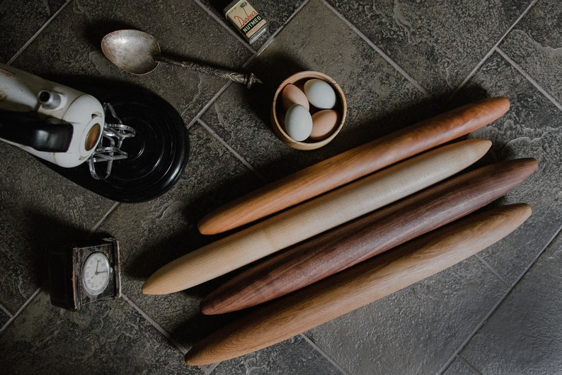 French Rolling Pin Pastry Rolling Pin Tapered Rolling Pin image 0