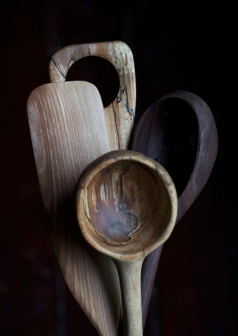 Wooden Utensils Set Wooden Spoon Wooden Ladle Rustic Spoon image 0