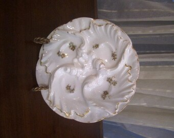 Antique Oyster Plate, Haviland Limoges, France, ca Late 1800s, Early 1900s