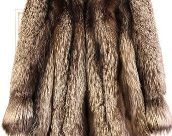 Vintage Fox Fur Jacket, Yeager's,  ca 1940s