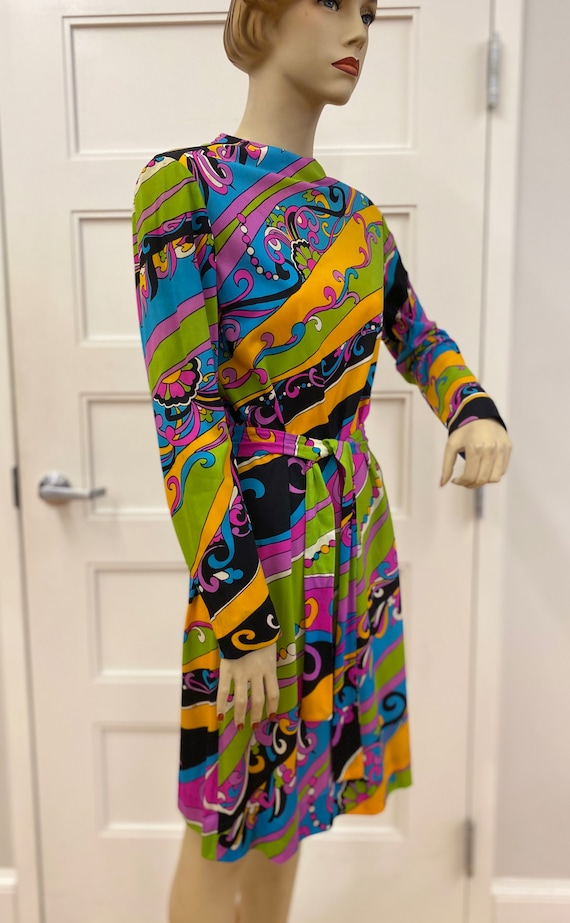 Vintage Colorful Suzy Perette Dress, ca 1960s