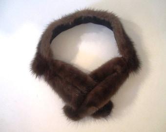 Vintage Mink Fur Collar, ca 1950s