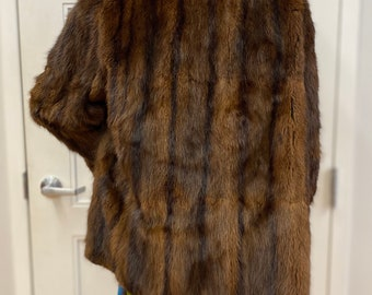 Vintage Muskrat Fur Jacket, ca 1930s