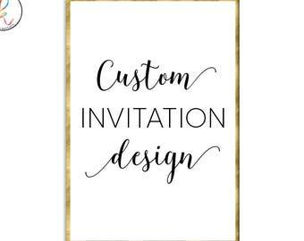 Custom Party Invitation Design Custom Design Custom Invite Invitation Design Party Invitation Birthday Party Invitation Baptism Invitation