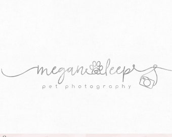 Paw Logo Pets Logo Pet Shop Logo Camera Logo Premade Logo Watermark Logo Business Logo Branding Logo Custom Logo Logos and Watermarks