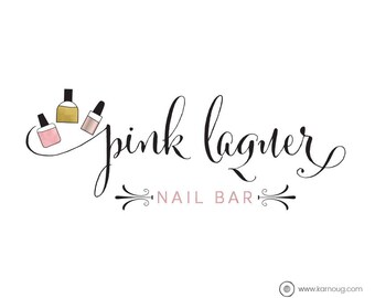 Exclusive One Of A Kind Logo And Watermark Nail Bar Artist Premade Business Branding Kit
