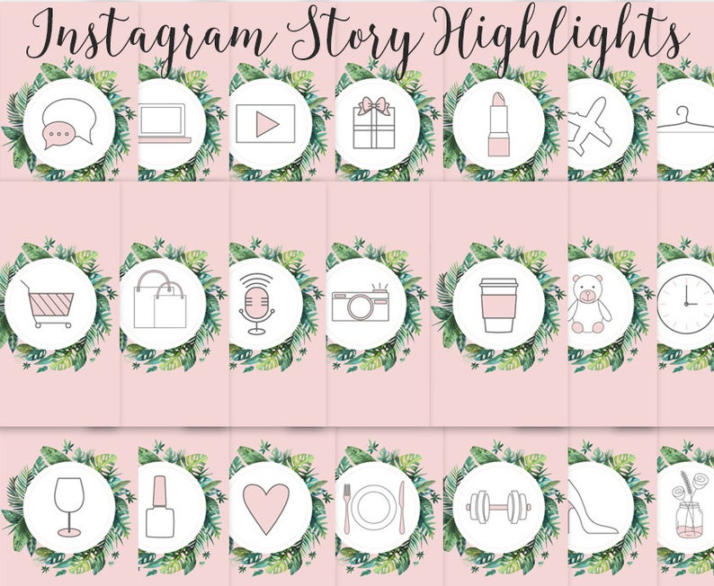Instagram Story Highlights Icons Set Of 21 Instagram Icons Etsy