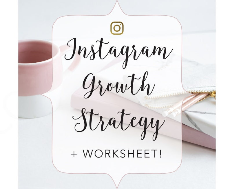 Instagram Growth Strategy and Worksheet Workbook Instagram image 0