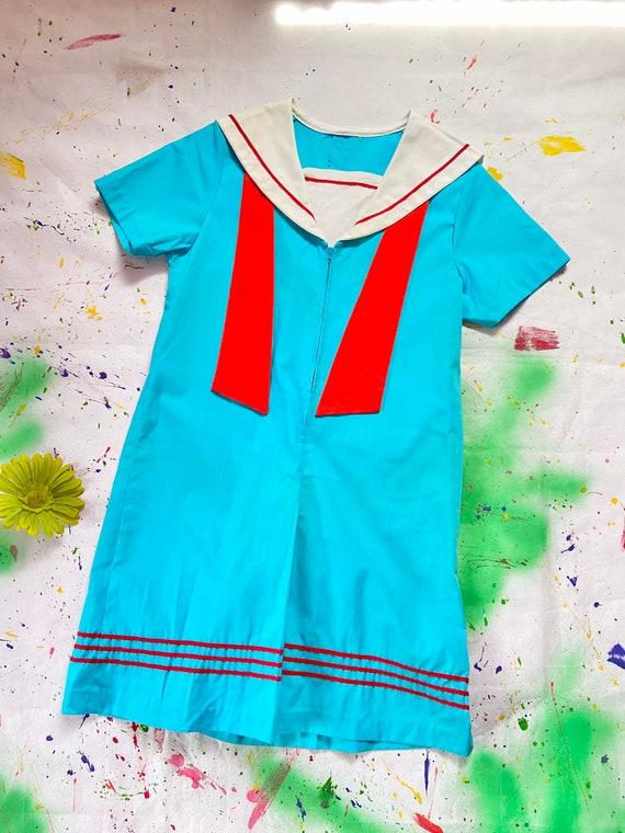Blue sailor jumpsuit