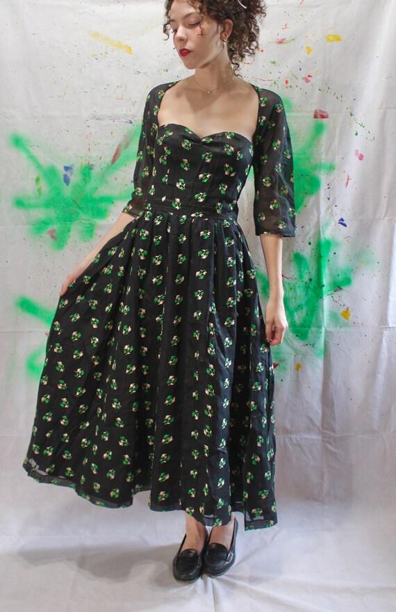 True 1950s Vintage Tea Dress