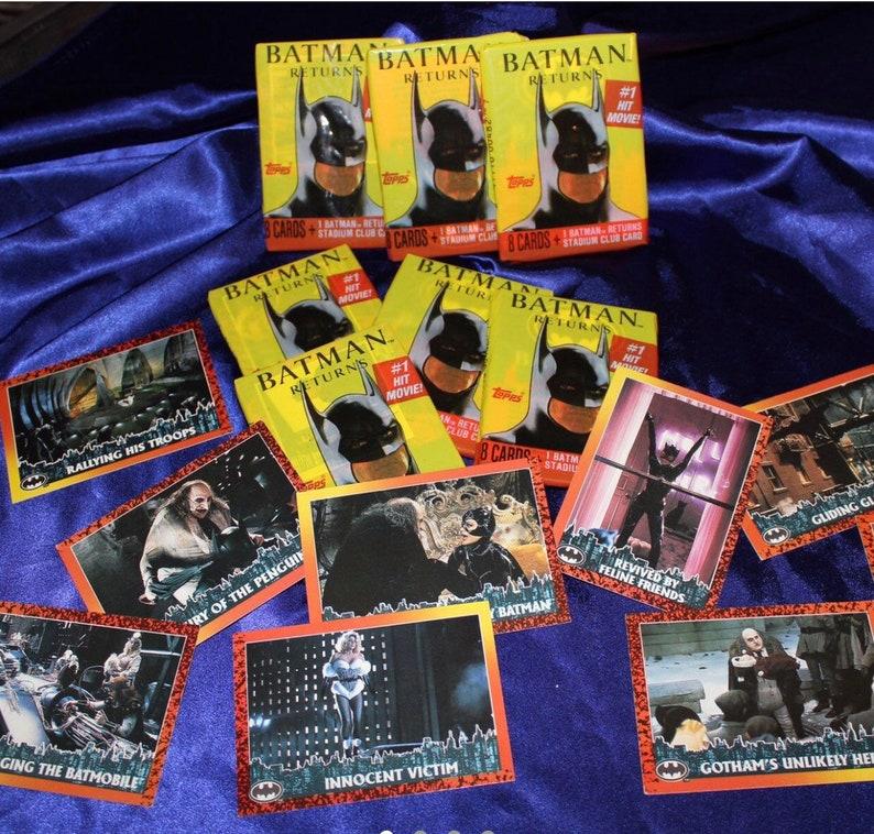 Vintage Batman Return Movie Trading Cards